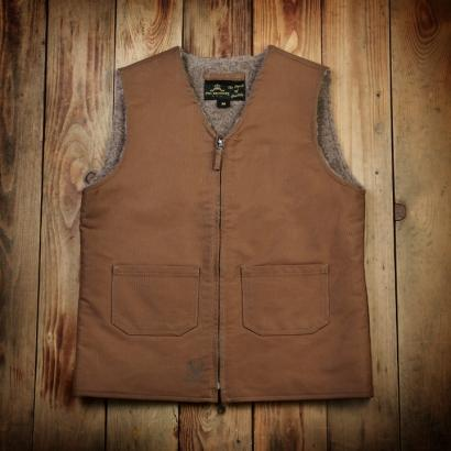 C2 VEST WOOL WAXED KHAKI