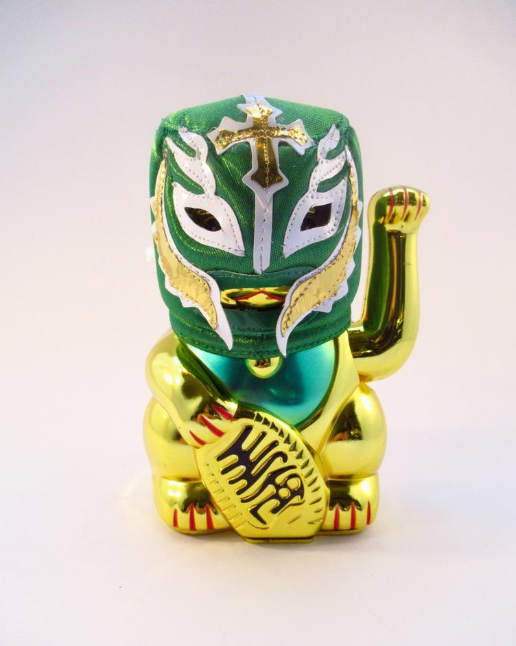 Lucha Cat Demonio Verde
