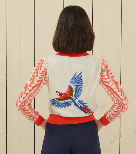 Orcanic Cotton Cardigan Large Parrot