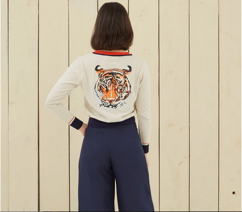 Orcanic Cotton Cardigan Large Tiger